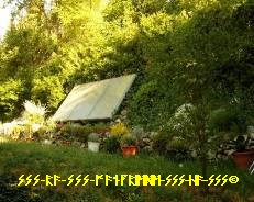 50 m Stein-Garten + Warmwasser